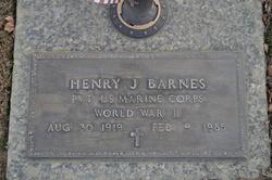 Pvt Henry J. Barnes