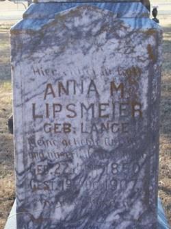 Anna Maria <i>Lange</i> Lipsmeier