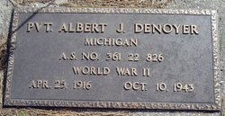 Pvt Albert Joseph Denoyer