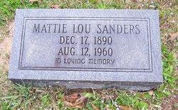 Martha Louise Mattie Lou <i>Hightower</i> Sanders
