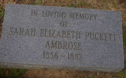 Sarah Elizabeth <i>Puckett</i> Ambrose