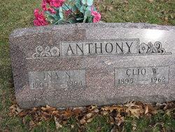 Clio W Anthony