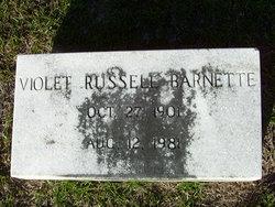 Violet <i>Russell</i> Barnette