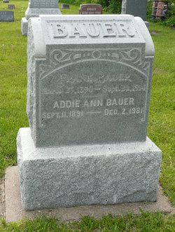 Addie A <i>Russell</i> Bauer