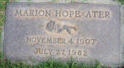 Marion Hope <i>Lewis</i> Ater