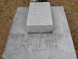 Addie O <i>Babb</i> Pittman