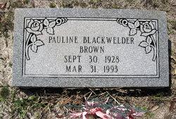Pauline <i>Blackwelder</i> Brown