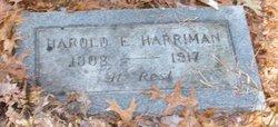 Harold E Harriman