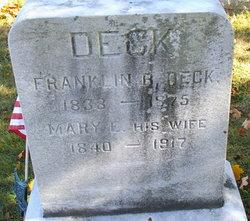 Mary E <i>Snyder</i> Deck