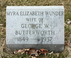 Myra Elizabeth <i>Wunder</i> Butterworth