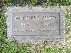 Mary <i>Ahrens</i> Webster