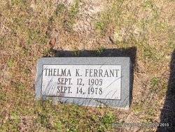 Thelma K Ferrant