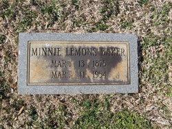 Minnie <i>Lemons</i> Baker