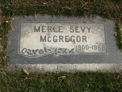 Merle <i>Sevy</i> McGregor