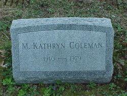 M Kathryn Coleman