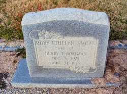 Ruby Ethelyn <i>Smoak</i> Boatman