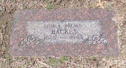 Ona L <i>Brown</i> Backes