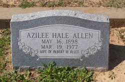 Frances Azilee <i>Hale</i> Allen