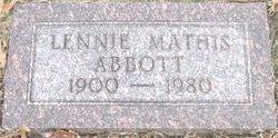 Bertha Lennie <i>King-Mathis</i> Abbott