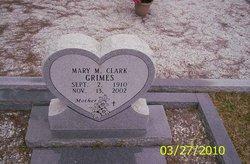 Mary M <i>Clark</i> Grimes