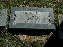 Fay <i>Boland</i> Spears