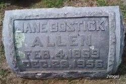 Jane Jennie <i>Bostick</i> Allen