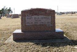 Mary Ella <i>Dowell</i> Webb