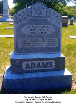 Sarah Ann Turner <i>Hall</i> Adams