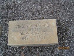 Virginia <i>Haynie</i> Bailey