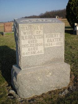 Martha E. <i>Gideon</i> Baxter