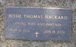 Bessie <i>Thomas</i> Nackard