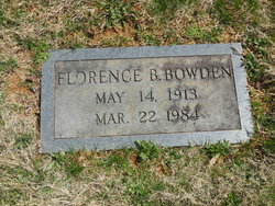 Florence Evelyn <i>Buck</i> Bowden