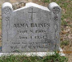 Alma Mae <i>Strickland</i> Baines