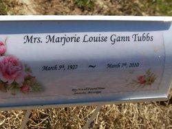 Marjorie Louise <i>Gann</i> Tubbs