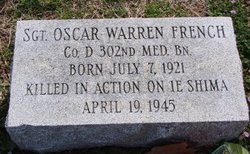 Sgt Oscar Warren French