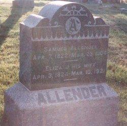 Elizabeth Jane <i>Green</i> Allender