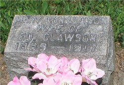 Mary <i>Donaldson</i> Clawson
