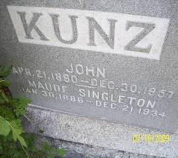Maude Patience Fanny <i>Singleton</i> Kunz