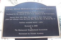 Calvary African Methodist Episcopal Church Cemeter