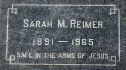 Sarah Marie <i>Neufeld</i> Reimer