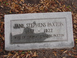Mary Jane <i>Stephens</i> Paxton