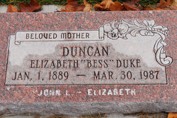 Elizabeth Bess <i>Duke</i> Duncan