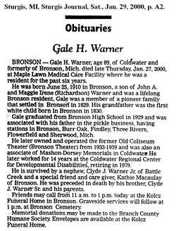 Gale Halley Warner