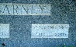 Ann <i>Langford</i> Barney