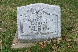 Margaret B. Betty <i>Dowd</i> Lathrop