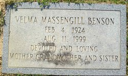 Velma <i>Massengill</i> Benson