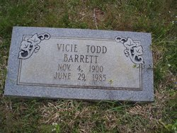 Vicie M <i>Todd</i> Barrett