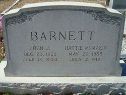 Harriet Elizabeth Hattie <i>McMakin</i> Barnett