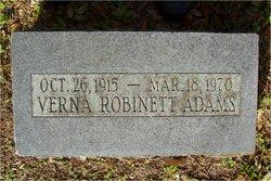 Verna <i>Robinett</i> Adams