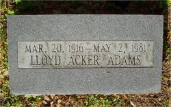 Lloyd Acker Adams